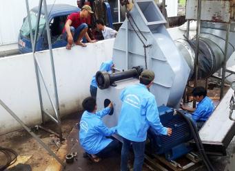 Bảo trì hệ thống xử lý khí thải cho nhà máy Coronet